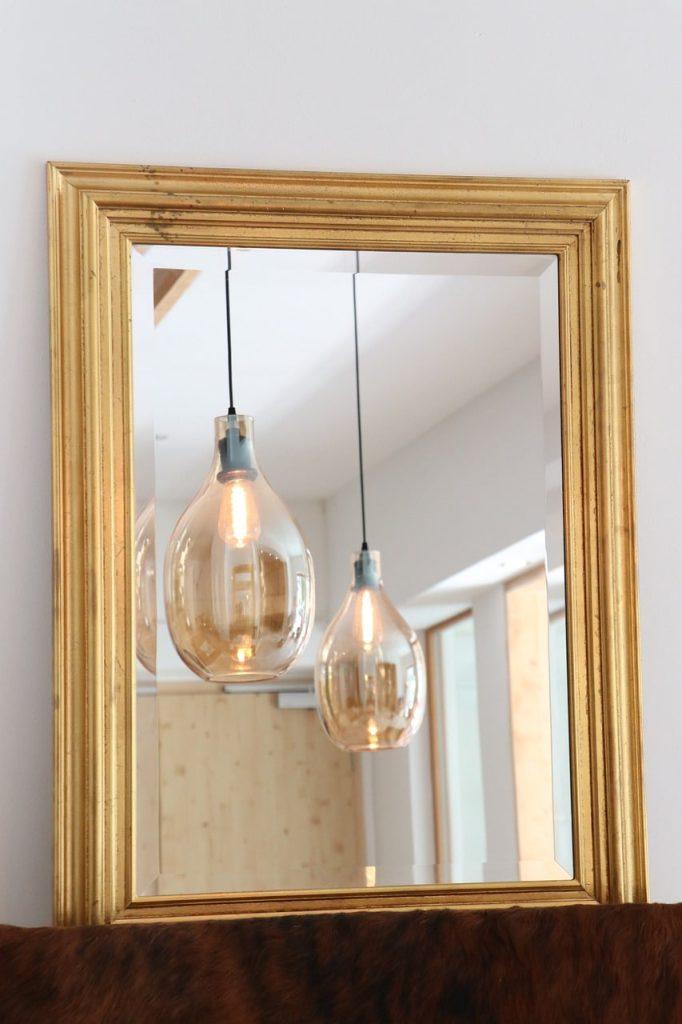 Repeindre un cadre de miroir doré