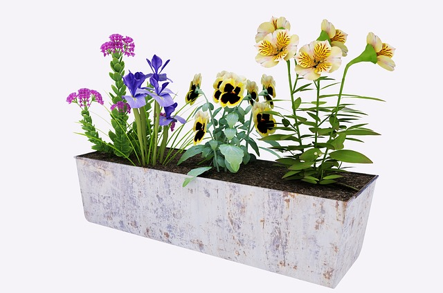 Peindre des pots de fleurs en plastique